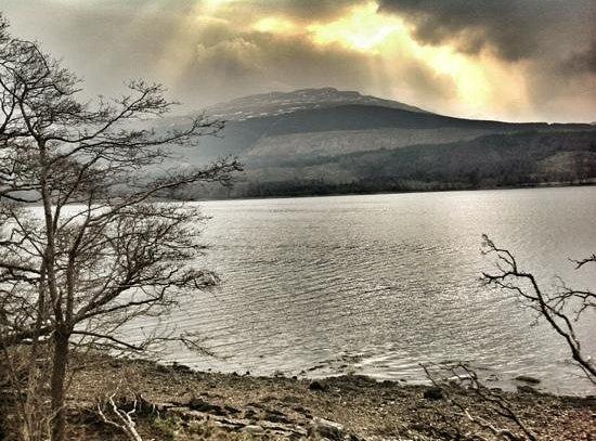 A golden Sunrise over Loch Lomond