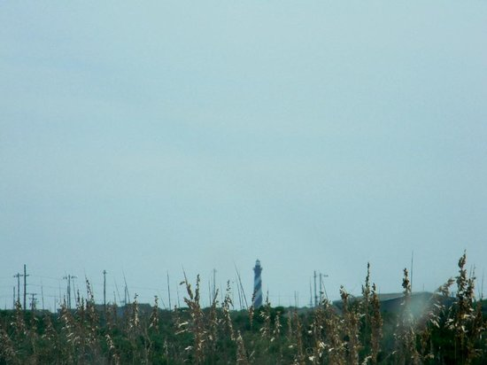 Cape Hatteras Lighthouse: View from the beach entrance