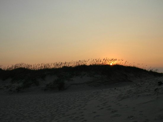Ocracoke Campground: Beach at sunset