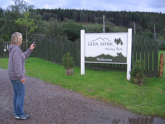 My mum in Glen Affric Holiday Park