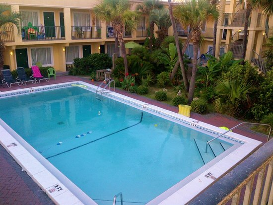Flamingo Motel: This is one of two pools - and it's clean