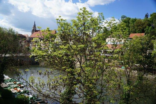 Domizil Tübingen: view of Neckar river from room
