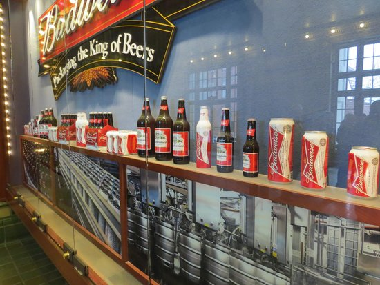 Budweiser Brewery Tours: Variety of company beers