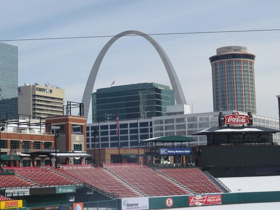 Busch Stadium: View of downtown from the stadium