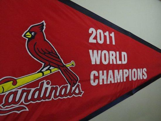 Busch Stadium: Championship banner