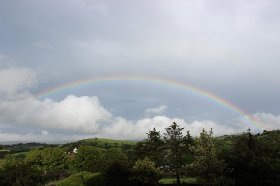 Ardlenagh View: Rainbow after the rain in front of the house