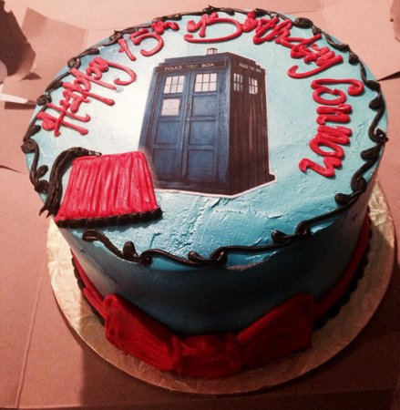 Tremendous Dr Who Themed Birthday Cake For My 15 Year Old Son Connor Funny Birthday Cards Online Fluifree Goldxyz