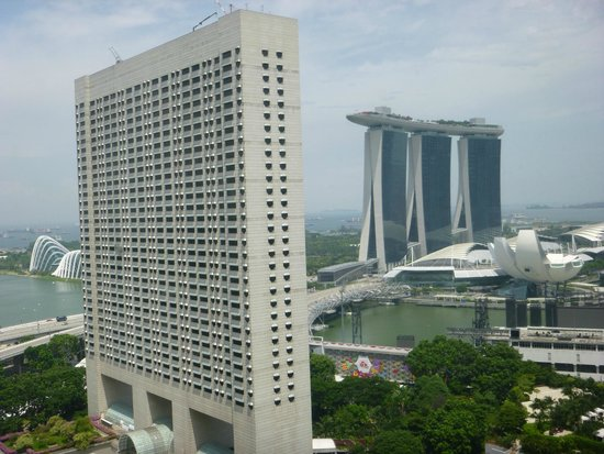 Pan Pacific Singapore: View from the 25th floor of the hotel