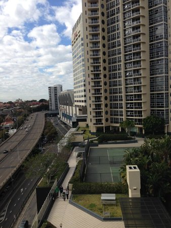 Meriton Suites Bondi Junction: looking back to Tower 1 from Tower 2