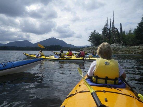 Southeast Sea Kayaks : setup for group photo