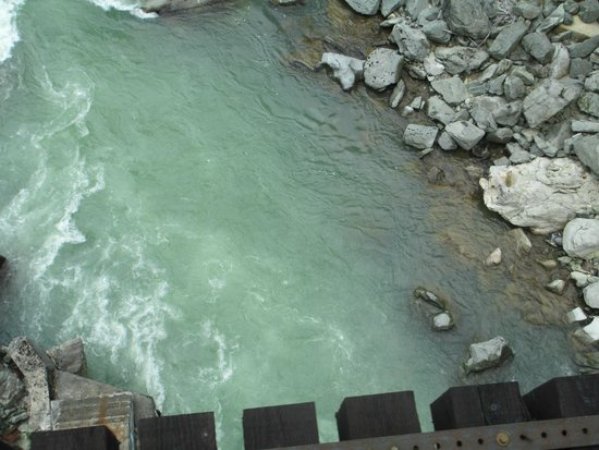 The Rocky Mountaineer Train: It is a long way down from the trestle