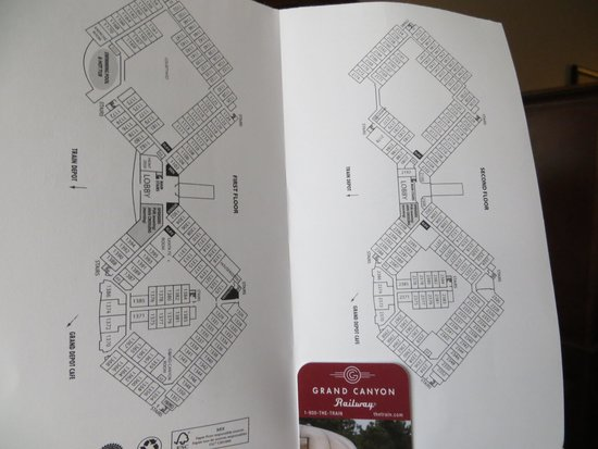 Grand Canyon Railway Hotel: Map of the hotel