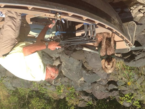 Canyon Outfitters, Inc.: Owner/Guide George and Clancy Jean prepping for adventure!!