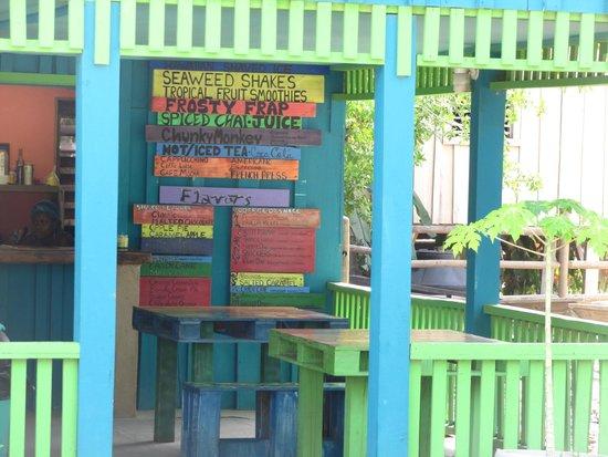 Brewed Awakenings: Colorful menu