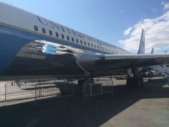 The Museum of Flight : Air Force One! Color scheme by Jackie Kennedy!