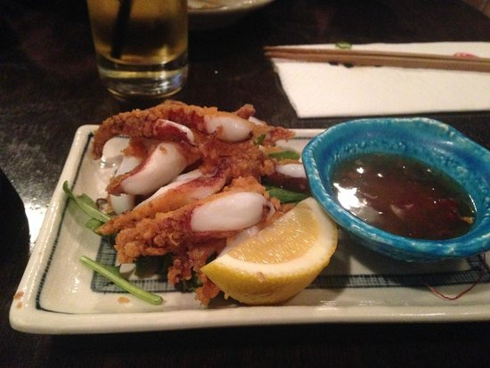 Kinji Japanese Restaurant: Deep fried squid
