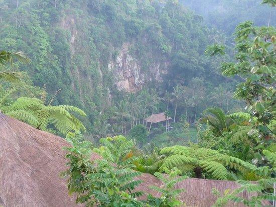The Royal Pita Maha: この崖の下をアユン川が流れる