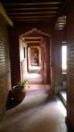 Kantipur Temple House: 房間走道