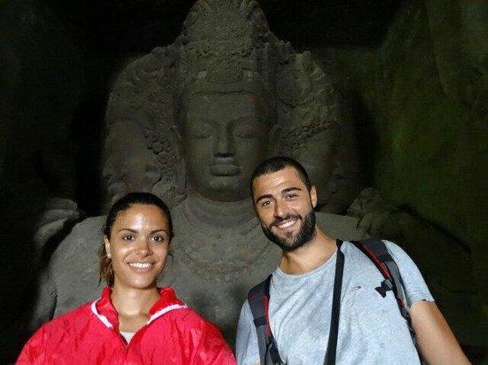 Elephanta Caves: Trimurtri con las tres manifestaciones de Shiva