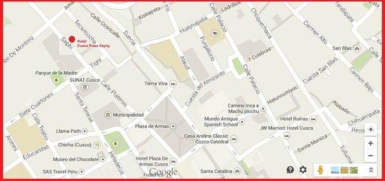 Cusco Plaza Nazarenas: Nuestra Ubicacion/ Our location