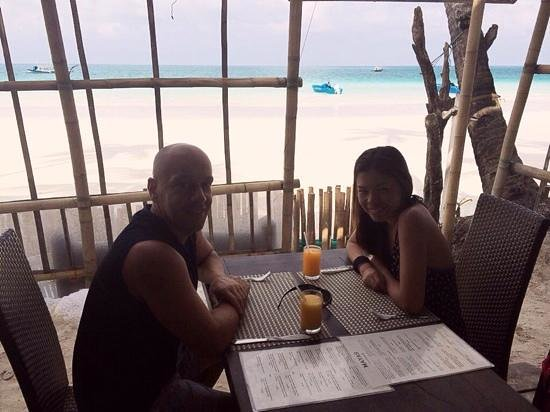 Jony's Beach Resort : breakfast with excellent view