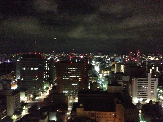 Hilton Nagoya : Night view in 25th floor