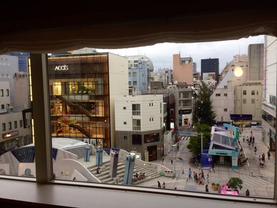 Hiroshima Washington Hotel : View from single room on 4th floor