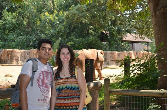 Riverbanks Zoo and Botanical Garden: Us in front of Elephant Enclosure