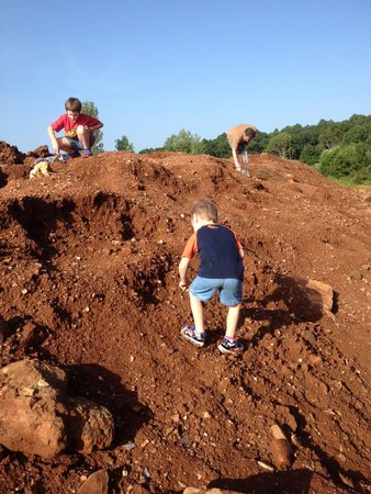 """Coleman Crystal Mines and Rock Shop-Jim: The three of us """"boys"""" looking for crystals."""