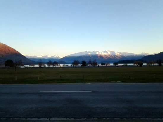 Wanaka View Motel: This would be your view from one of the front rooms.