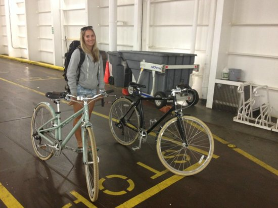 Spitfire Scooter Rentals: Bikes on the ferry