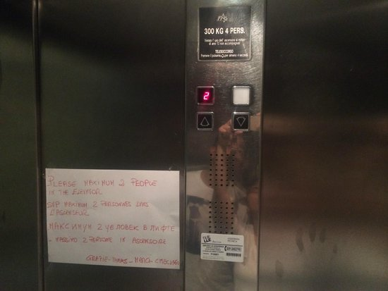 Hotel Rio : Elevador sem manutencao, o hotel nao confia na capacidade do proprio elevador