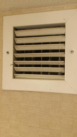 Embassy Suites by Hilton Hotel San Rafael - Marin County / Conference Center: Filthy bathroom air return
