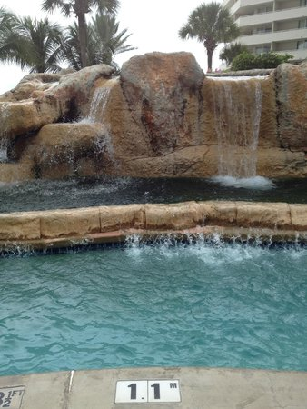 Melia Nassau Beach - All Inclusive: Cascading rock waterfalls in many pools!