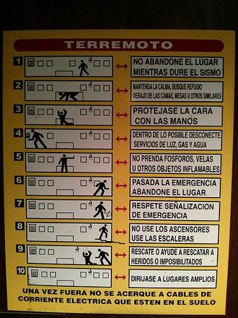 Haha this is not La Piojera, this is instructions for an earthquake