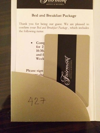 فيرمونت ماكاتي مانيلا: Contactless room keycard