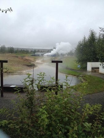 Geothermal Park,Klambragil,new hot spring area: Geothermal Park - still a little steam in spite of many dry springs