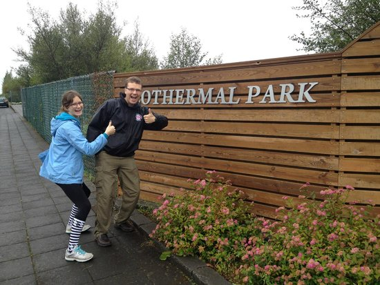 Geothermal Park,Klambragil,new hot spring area: Look for this sign in Hveragerdi, parking is to the right of the sign.