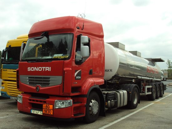 Best of Switzerland Tours: A typical rest zone along the Zurich Paris Highway. Picture shows a huge Tanker so colorful and