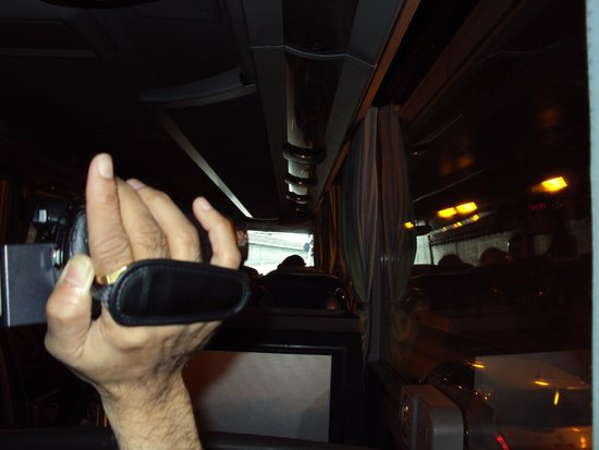 Best of Switzerland Tours: A view from inside our coach whilst traveling to Paris.