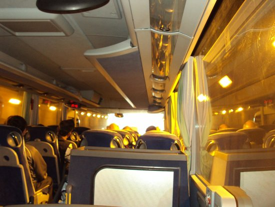 Best of Switzerland Tours: Golden lights in the coach added to the travel treasure all along the way to Paris.