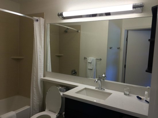 Candlewood Suites Orange County/Airport: Loved this mirror, it was huge!