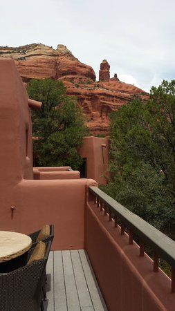 Enchantment Resort: Red rock view from our casita deck