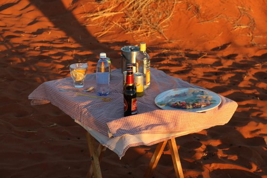NamibRand Nature Reserve, Namibia: The sundowner table.