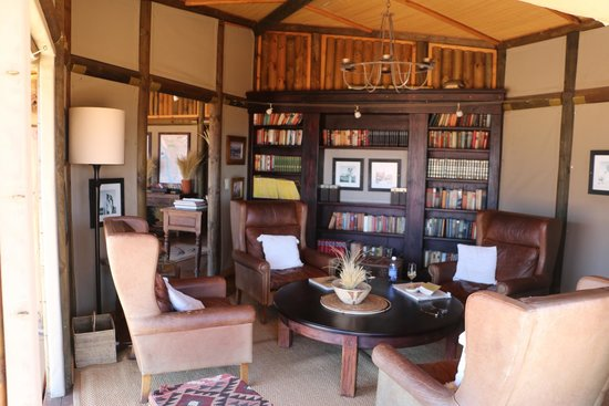 NamibRand Nature Reserve, Namibia: The library and lounge.