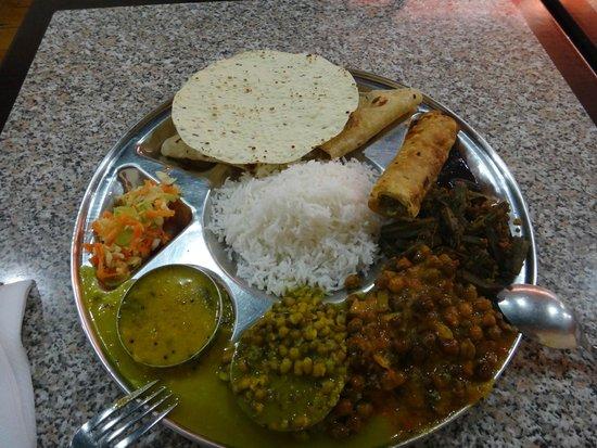 Rasoi Vegetarian Restaurant : $19.95 deluxe thali