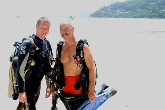 Dive Resort Seychelles: Me and Leo (The company owner)