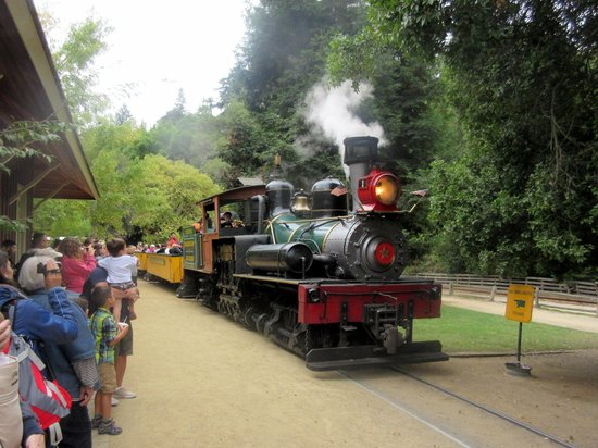 Roaring Camp & Big Trees Narrow-Gauge Railroad: Getting Ready to Board the Train, Roaring Camp and Big Trees Narrow-Gauge Railroad, Felton, Ca