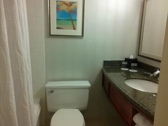 Miami Airport Marriott: small bathroom