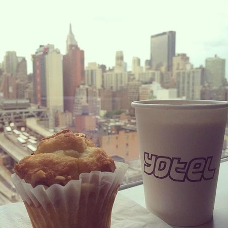 YOTEL New York at Times Square West: My view + free coffee & muffins